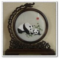 Buy cheap Panda Sitting in Bamboo-ShuXiu Silk Art 100% Handmade Silk Embroid By Artist fr BBHY from wholesalers