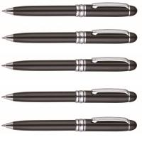 Buy cheap classical mont blanc style metal pen,promotional metal pen,black lacquer and silver tip from wholesalers
