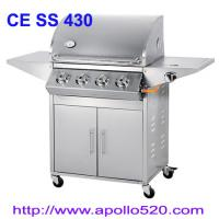 Buy cheap Outdoor Gas Grill 4burner with side burner from wholesalers