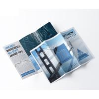 Buy cheap Custom A4 Color Printed Matte Laminate Tri- fold Brochure from wholesalers