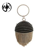 Buy cheap Top quality crystal beaded Clutch Purse Evening Bag Ball shape lady bag from wholesalers