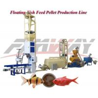 Buy cheap Alloy Steel Floating Fish Feed Production Line with 1t/h production from wholesalers