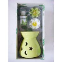 Buy cheap Ceramic Glass Fragrance Oil Burner Incense Gift Set With 2 pcs Tealihts Homechi product