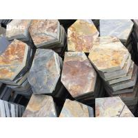 Buy cheap Rusty Yellow Slate Stepping Stones For Flooring , Outdoor Garden Slate Stones from wholesalers