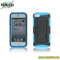 Buy cheap PC+silicone case for iphone5, Belt clip cover, transformers design product
