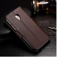 Buy cheap Crazy Horse Cell Phone Leather Wallet Case For Meizu 3s Light Brown Anti - Dirt from wholesalers