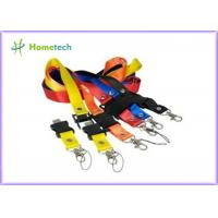 Buy cheap Custom colors promotional Lanyard USB Flash Drives 4GB / 8GB for Students of the University product