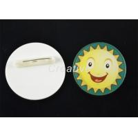 Buy cheap Round Pin / Clip Plastic Conference Name Badges With 3D Epoxy Domed Finish from wholesalers
