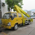 Buy cheap isuzu 18m straight boom truck mount telescoping lift telescopic aerial platform man lift trucks from wholesalers