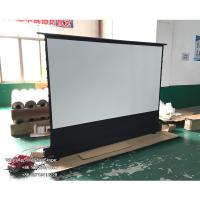 Buy cheap 120 inch tab tension electric floor rising projector screen portable aluminum casing for ultra short throw projector from wholesalers