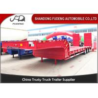 Buy cheap Gooseneck Lowboy 13 Meters 3 Axles 60Ton Mechanical Ladder Low Loader Semi Trailer For Sale from wholesalers