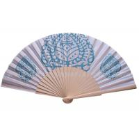 Buy cheap Pure And Fresh Style Transfer Printing Wooden Hand Fans For Advertising , Gift , Souvenirs Fine Art from Wholesalers