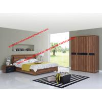Buy cheap Walnut panel Storage bed by life device in Apartment Furniture set with open door closet product