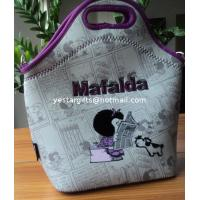 Buy cheap 4.5mm Food Standard Neoprene Lunch Tote With Flocking Pattern For Chrildren from wholesalers