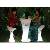 Buy cheap Bar Counter LED Illuminated Cocktail Table PE Colorchangeable 56 x 56 x 110 cm from wholesalers