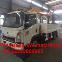 Buy cheap good price China made SINO TRUK HOWO 2T truck with crane for sale, HOT SALE! HOWO diesel crane mounted on cargo truck from wholesalers