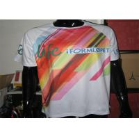 China Polyester White Running Custom Printed T Shirts With Sublimation Printing on sale