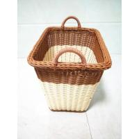 Buy cheap PP Rattan Round Bathroom Storage Basket Hamper,  Collapsible Large Laundry Basket from wholesalers