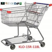 Buy cheap 180L Advertisement Metal Grocery Store Shopping Cart With Wheels 1080x640x1075mm from wholesalers