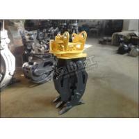 Two Cylinders Hydraulic Log Grapple , Sunward SWE60 SWE70 Rotating Grapple For Excavator