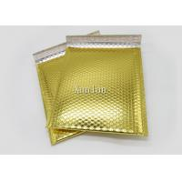Buy cheap 6x10 Shiny Gold Metallic Bubble Mailers Waterproof Tear Resistant For Shipping from wholesalers