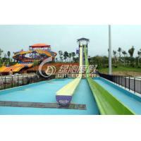 High speed Fiberglass Body Water Slide for Commercial Spray Park Equipment , Customized