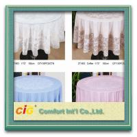 Buy cheap Elegant Patterned Lace Round PVC Transparent Film Tablecloth For Picnic / from wholesalers