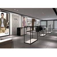Buy cheap Modern Fashion Style Retail Display Fixtures Men Clothing Display Systems from wholesalers