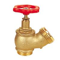 Buy cheap Pipe Fitting Brass Oblique Fire Hydrant Valve With Red Round Handle product