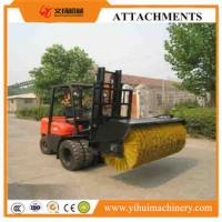 Buy cheap good quality forklift attachment hydraulic driven angle sweeper broom attachment for forklift from wholesalers