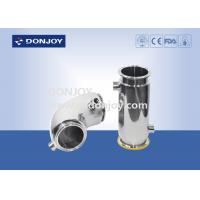 Buy cheap Polished Stainless Steel Sanitary Fittings heat jacket Elbow SUS304  for chocolate from wholesalers
