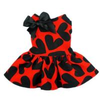 Buy cheap Red Cloth&Black Heart Pattern Pet Dog Wedding Dresses For Dog product