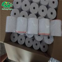 Buy cheap 80x80mm ATM Credit Card Machine Paper Rolls , Thermal Receipt Paper Evenly Coating from wholesalers