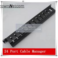 Buy cheap AMP Type Rack Cable Manager 19Inch Standard 24Port Patch Panel Management Data Voice Wire from wholesalers