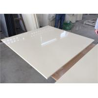 Buy cheap Pure White Kitchen Quartz Table Top 25.5 Inches Wide With Sink Hole from wholesalers