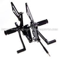 Buy cheap CNC Aluminum Parts Motorcycle Rear Sets Footrests For Suzuki GSX from wholesalers