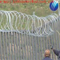 Buy cheap where to buy barbed wire/razor blade barbed wire/barbed wire razor wire/flat razor wire/razor wire coil/concertina coil from wholesalers