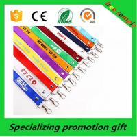 Buy cheap Polyester / Nylon / Bamboo Leather ID Badge Card Holder With Neck Strap from wholesalers