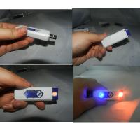 Buy cheap Ten Color Optional Usb Rechargeable Lighter , Plastic Usb Cigarette Lighter from wholesalers