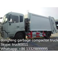Buy cheap Dongfeng 4X2 LHD10tons Compress Garbage truck for sale, hot sale best price dongfeng 210hp/180hp garbage compacted truck from wholesalers