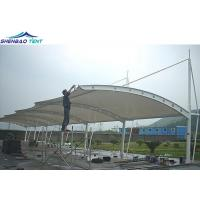 Buy cheap PVC Tensile Membrane Structures For Car Parking Shed Anti - Rust And Flame Retardant from wholesalers