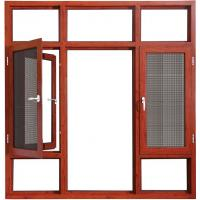 Buy cheap Coloured Hinged Aluminium Double Casement Windows Bronze With Reflective Glass from wholesalers