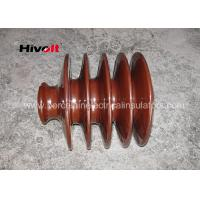 Buy cheap Distribution Lines 33kv Pin Insulator With Zinc Thread Brown BS Standard from wholesalers