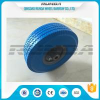 Buy cheap Heavy Duty PU Foam Wheel 3.50-4 , Puncture Proof PU Trolley Wheels Steel Rim from wholesalers
