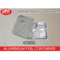 Buy cheap 4C2521 Aluminium Foil Products 4 Compartment Foods Packing Container 850ml Volume product