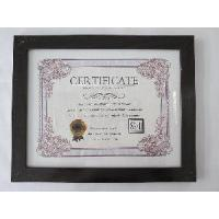 Buy cheap 8, 5x11Black MDF Certificate Frame from wholesalers