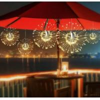 Buy cheap Solar Power 200LED 8 Modes IP65 DIY Firework Starburst Fairy String Christmas Holiday Light - Warm White from wholesalers