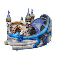 Buy cheap Super Print 0.55mm PVC Tarpaulin Inflatable Dragon Castle For kindergarten from wholesalers