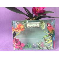 Buy cheap Durable Clear Green Printed PVC Box OEM , Printing Flowers PVC Plastic Box from wholesalers