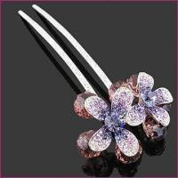 Buy cheap Fashionable Hairpins, Made of Rhinestones, Crystal and Zinc Alloy, Available in Various Plating from wholesalers